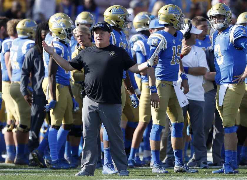 UCLA coach Chip Kelly reacts to a play against Stanford during the third quarter.