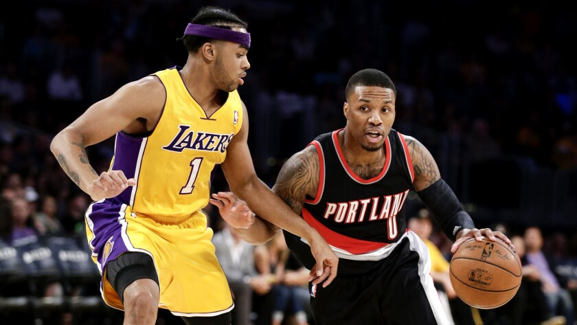 Lakers guards D'Angelo Russell and Jordan Clarkson face big test against Portland