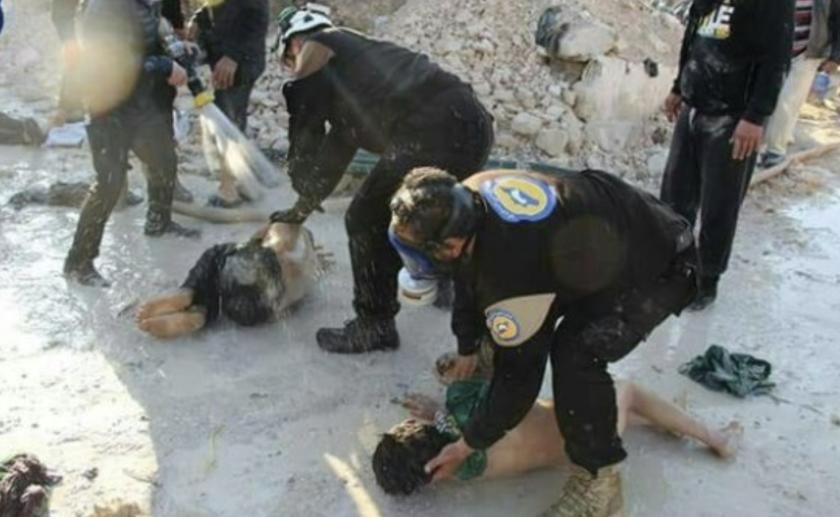 Imágenes del presunto ataque químico en la localidad de Duma.