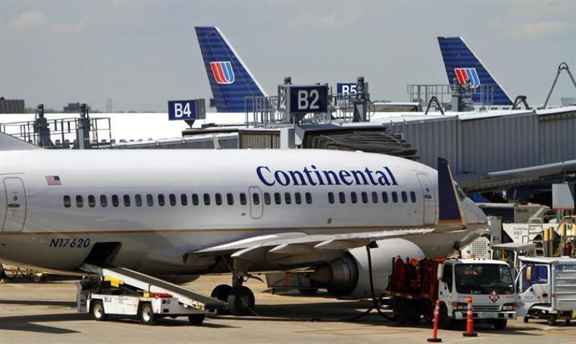 United Continental anunció hoy que en el primer trimestre de este año sus beneficios netos crecieron un 48,5 % respecto al mismo período de 2017, hasta 147 millones de dólares. EFE/Archivo