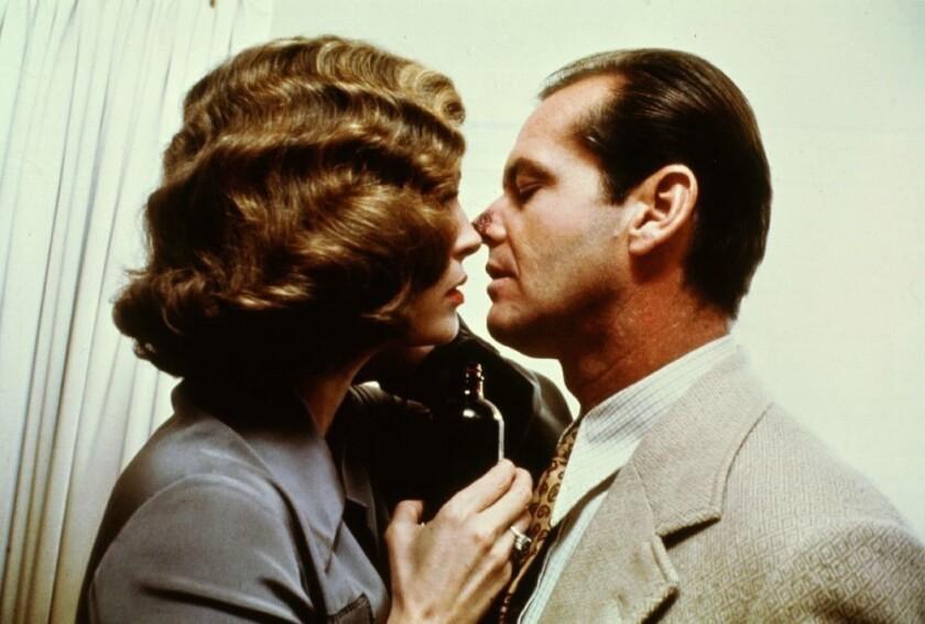"""Faye Dunaway and Jack Nicholson in """"Chinatown"""" (1974)."""