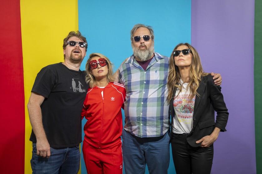 """Rick and Morty's"" Justin Roiland, Spencer Grammer, Dan Harmon and Sarah Chalke at Comic-Con 2019."