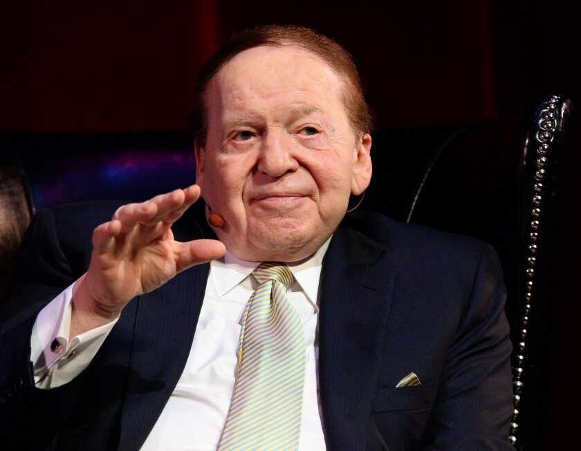 Las Vegas Sands Corp. Chairman and Chief Executive Sheldon Adelson.