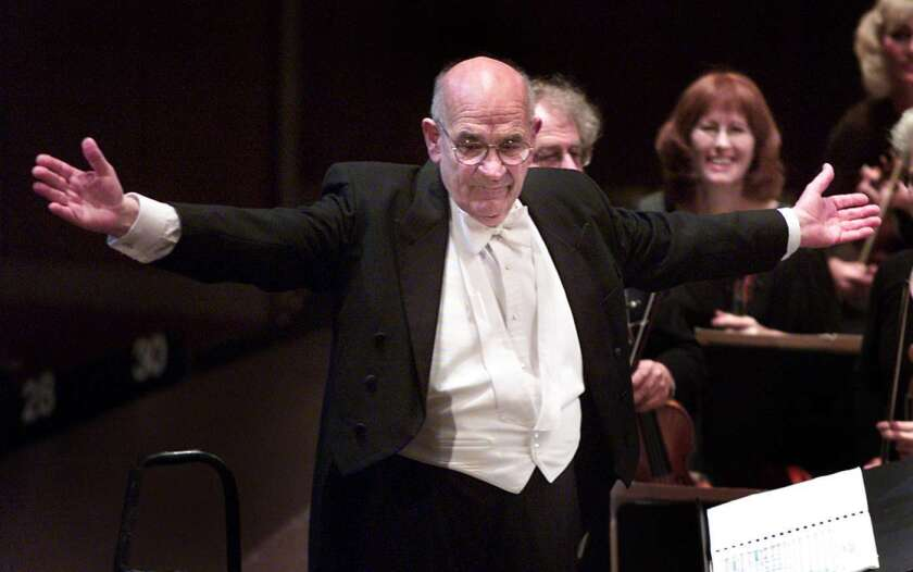 Conductor Paul Salamunovich at the Dorothy Chandler Pavilion in 2001.