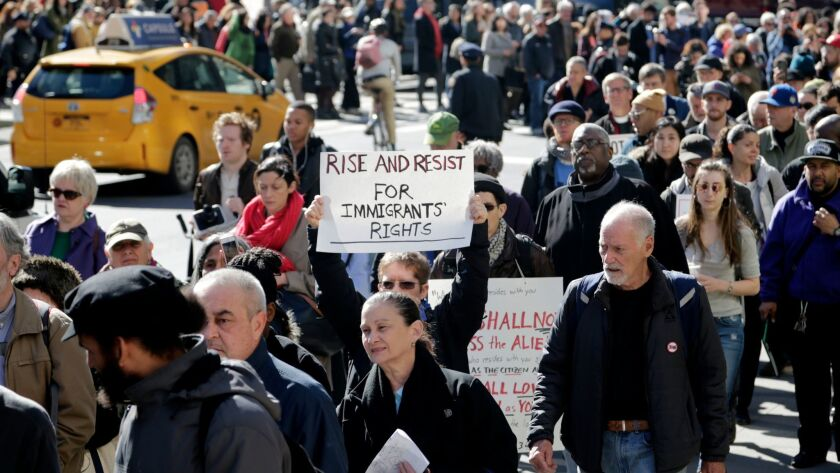Immigrant rights supporters