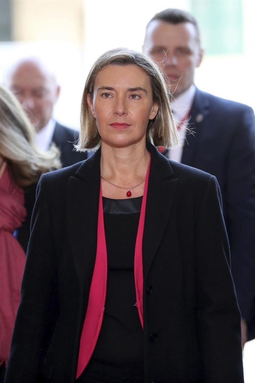 La jefa de la diplomacia europea, Federica Mogherini. EFE/Archivo