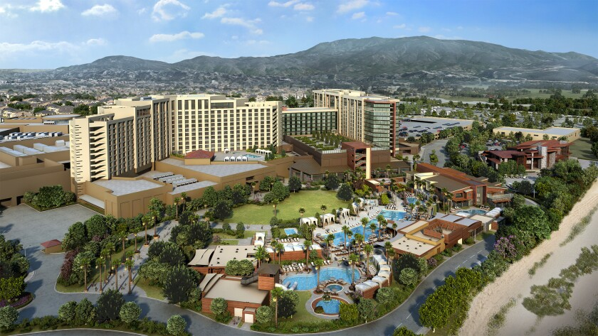 An artist's rendering of Pechanga Resort & Casino's $285 million expansion shows the scale of the me