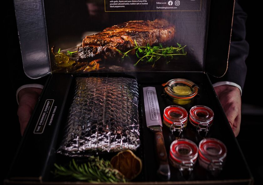 An at-home steak delivery from the Finishing Gourmet