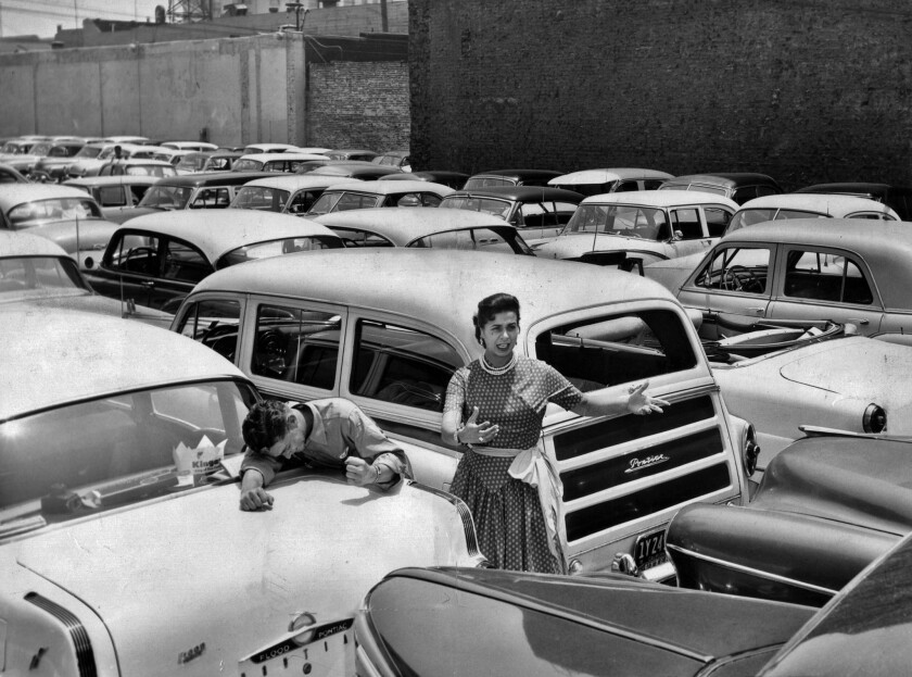 June 20, 1955: After a transit strike brought thousands of additional cars to downtown Los Angeles p