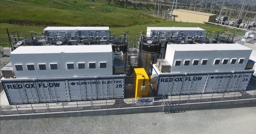 The vanadium redox flow battery project at the San Diego Gas & Electric substation in Bonita.