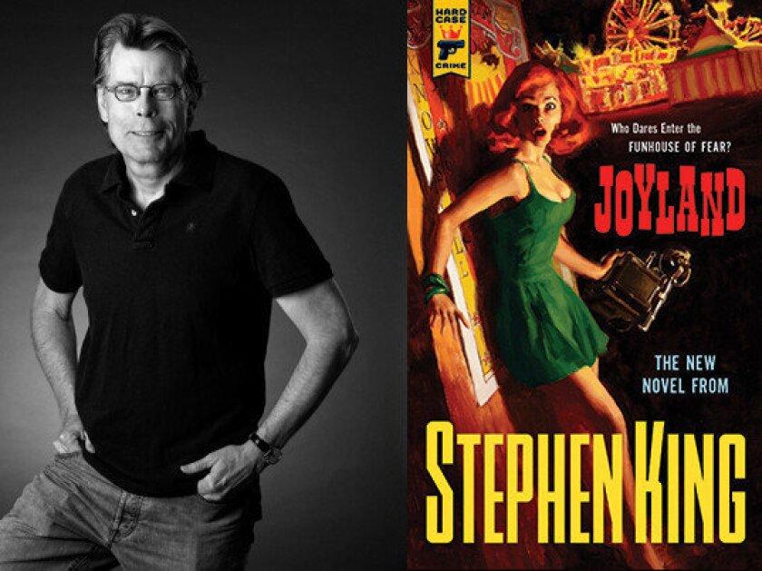 "Stephen King and his new novel ""Joyland."""