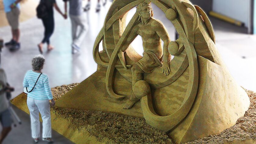 """""""Into the Future,"""" by Thomas Koet, of Florida, won Sculptor's Choice at last year's event."""