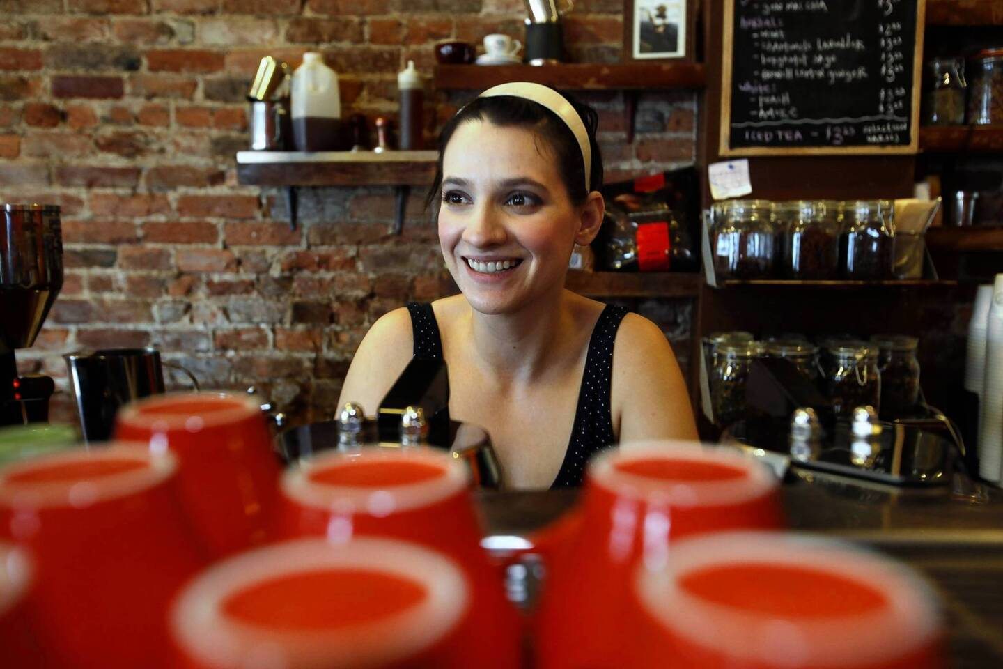It's all smiles at Cafe Grumpy