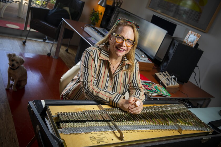 Composer Laura Karpman in her L.A. home studio.