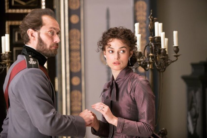 """Jude Law and Keira Knightley in the adaptation of Leo Tolstoy's """"Anna Karenina."""""""