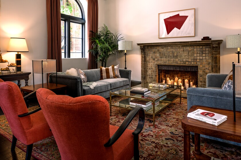 At the Commodore, the Wilshire Skyline team uncovered the original stone 1920s fireplace that had been hidden beneath layers of white lead paint.