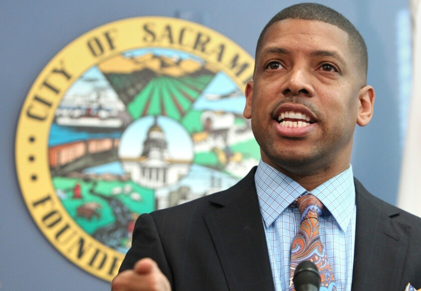 Sacramento Mayor Kevin Johnson is accused of sexually harassing a city employee; he has denied the allegations. Above, Johnson in 2012.