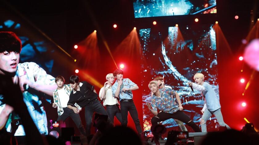 Sunday night at KCON: BTS, TTS and Eric Nam show K-Pop's