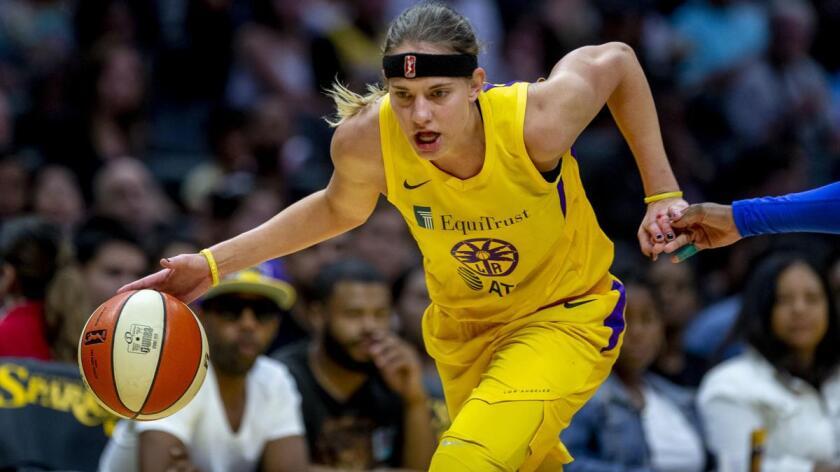 Guard Sydney Wiese had a breakout season for the Sparks last year.