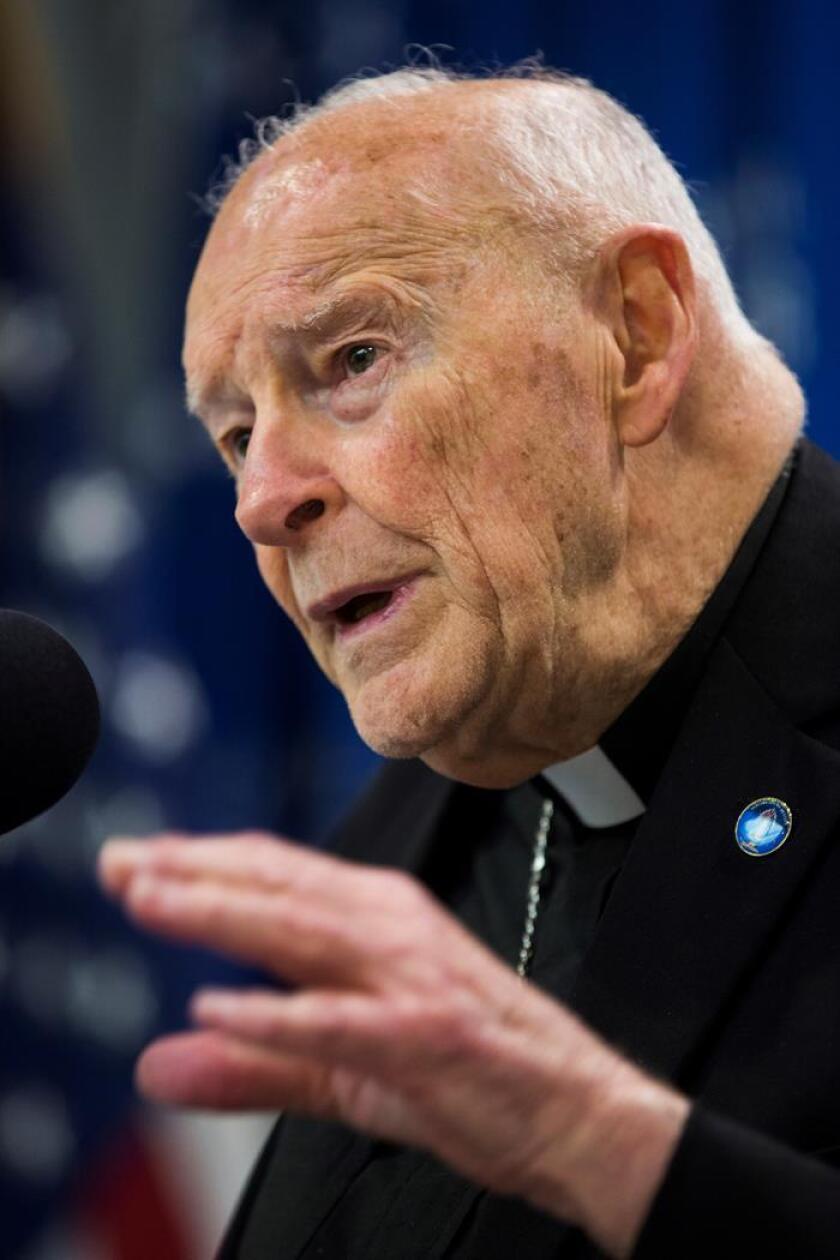 Fotografía de archivo del cardenal y arzobispo emérito de Washington Theodore McCarrick. EFE/Archivo
