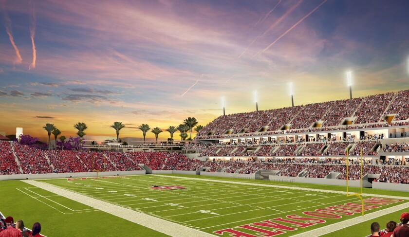 Rendering of SDSU Mission Valley stadium