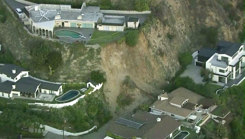 Landslide in Hollywood Hills