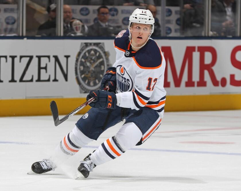 Edmonton Oilers forward Colby Cave.