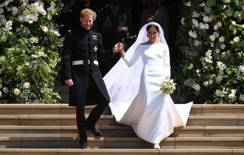 Prince Harry and Meghan on their wedding day