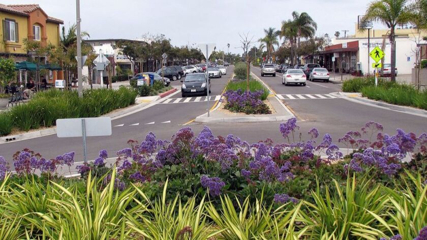A radical transformation: This is what La Jolla Boulevard looks like today.