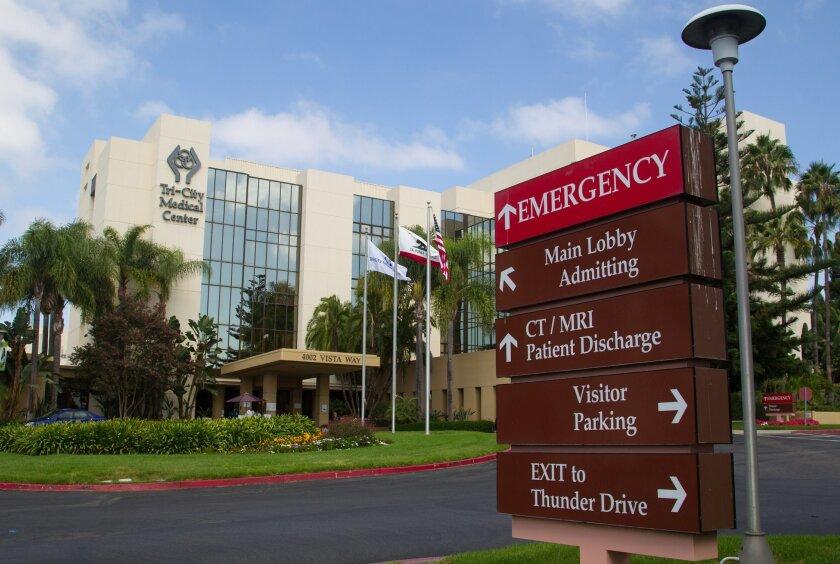 Tri-City Medical Center treats patients in coastal North County.