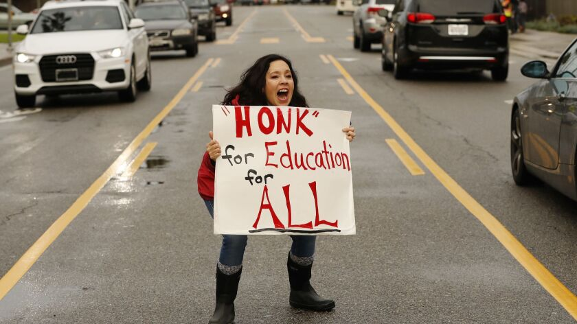 Polling showed widespread sympathy for striking teachers like Westminster Elementary's Beth Clark. The school board hopes to capitalize by putting a tax measure on the ballot.