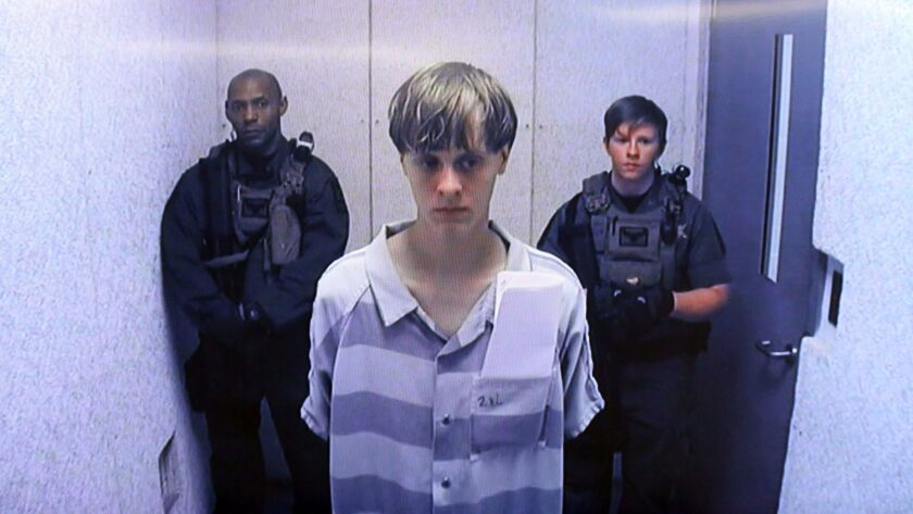 Dylann Roof, pictured here after his arrest in 2015, has been sentenced to death for killing nine worshipers at a church in Charleston, S.C.