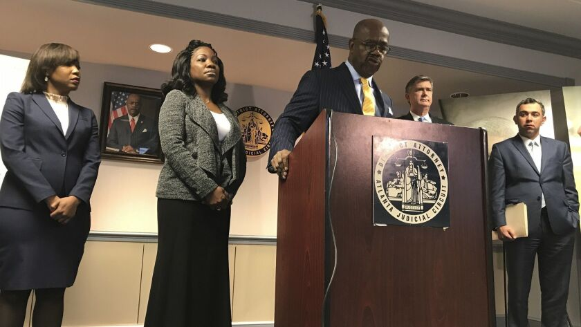 Fulton County District Attorney Paul Howard discusses his attempts to obtain information about the killing of Jamarion Robinson during press conference Friday,