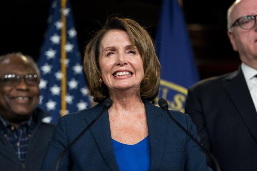 La líder de la minoría demócrata en la Cámara de Representantes, Nancy Pelosi. EFE/Archivo