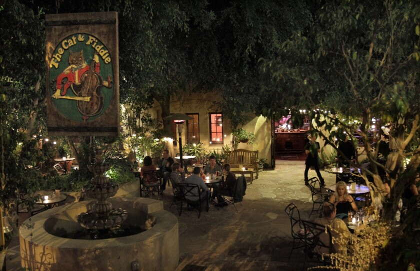 The Cat & Fiddle's famous courtyard patio on Oct. 10, 2012.