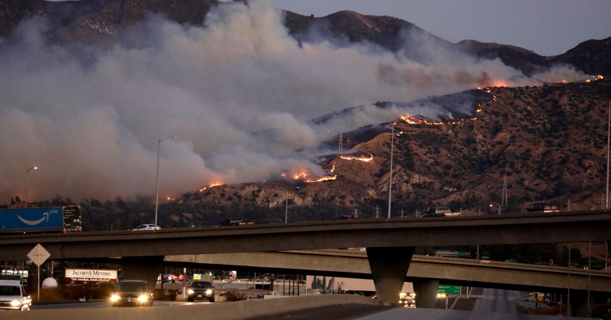 Several prep football games postponed because of Saddleridge fire