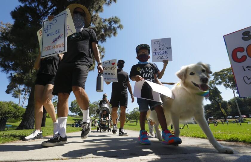 On Saturday a large group gathered at La Mesita Park in La Mesa