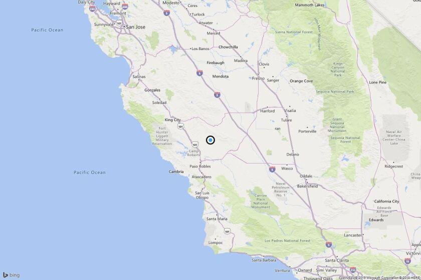 Earthquake: 3.1 quake strikes near Parkfield, Calif.