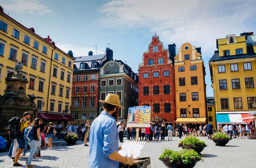 Stockholm's Old Town is a refuge for artists, musicians, historians and activists.