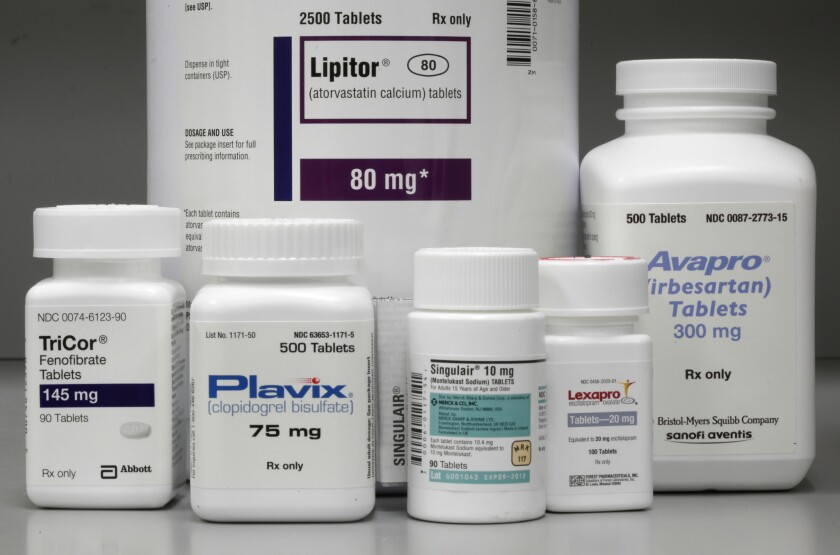 Prescription drugs are displayed in June 2011.
