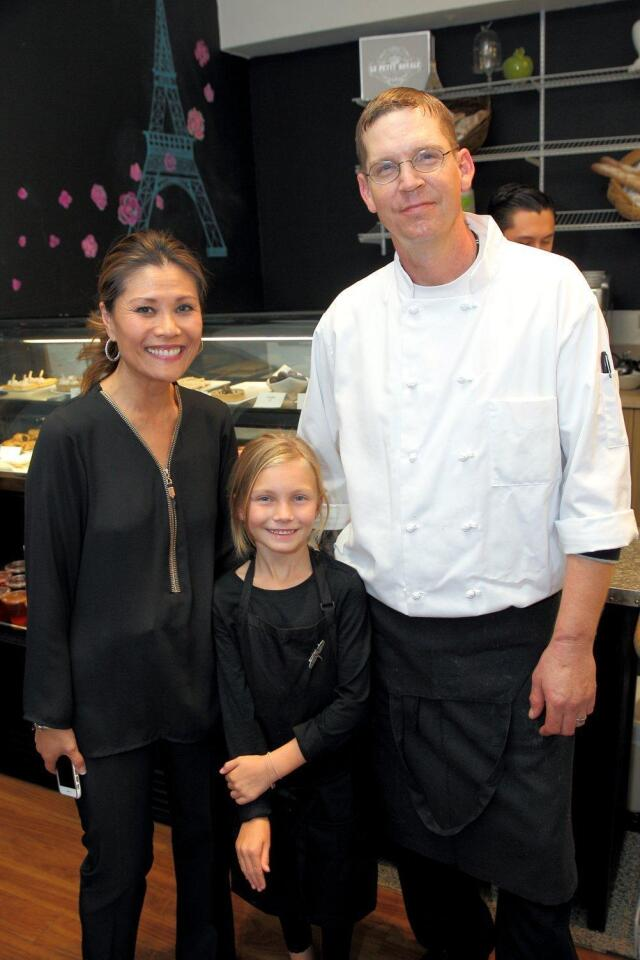 Co-owners of RSF Food Company Delorine Jackson and Andrew Dover with Chloe Dover (front)