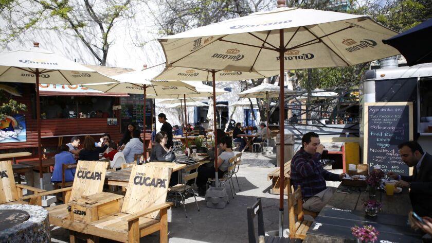 Telefonica Gastro Park a vacant lot-turned-food truck paradise just off La Revu.