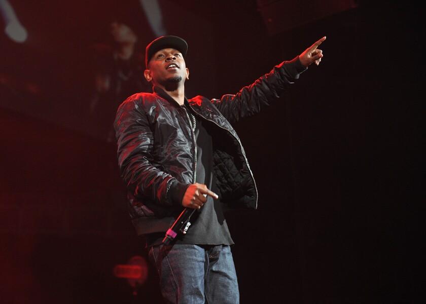 Hip-hop artist Kendrick Lamar performing at the Power 105.1's Powerhouse Concert in New York in November.