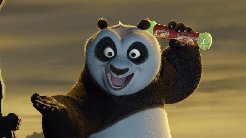 "Annie awards: Giant panda Po (Jack Black) in DreamWorks 2008 movie ""Kung Fu Panda."""