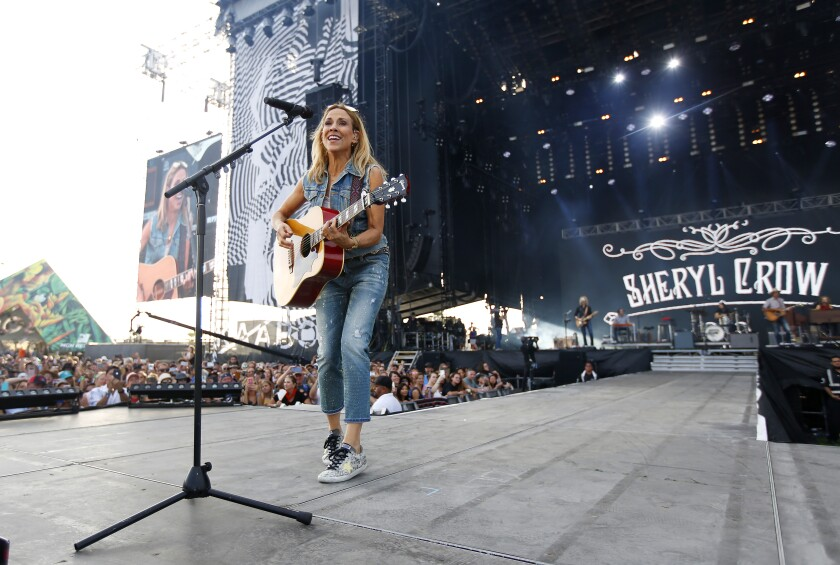 Sheryl Crow performs at KAABOO Del Mar on Sept. 15, 2019.