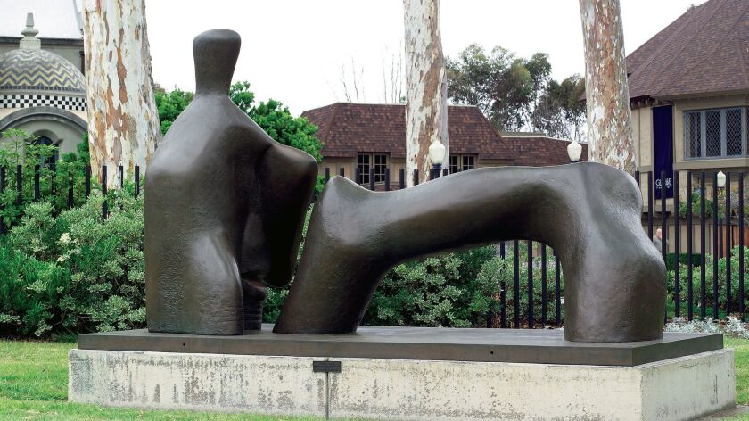 Henry Spencer Moore Great Britain, 1898–1986 Reclining Figure: Arch Leg, 1969 Bronze 98 1/2 x 183