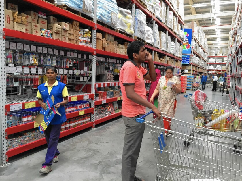 Wal-Mart's Best Price Modern Wholesale store in Hyderabad, India. The company plans to expand to 70 such stores from 20 in India within five years.