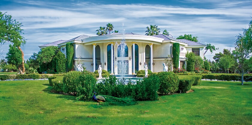 Wayne Newton designed Casa de Shenandoah, his home for nearly 50 years, himself. Newton and his wife, Kathleen, married here April 9, 1994.