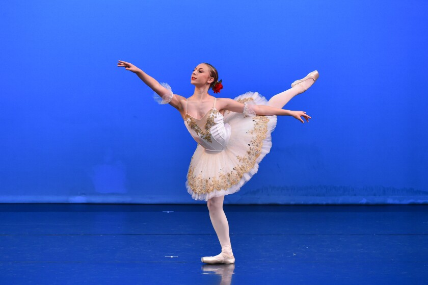 Del Mar ballerina Remy Loren took second place in the senior division of the Youth America Grand Prix ballet competition.