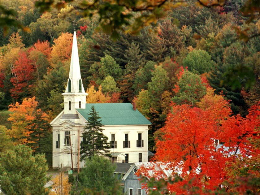 Woodbury, Vt., as the state's annual fall foliage nears its peak. A RAND Corp. report predicts that if Vermont legalizes marijuana, as many lawmakers wish, the state could experience a huge boom in pot tourism.
